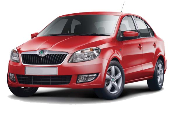 skoda rapid red photo