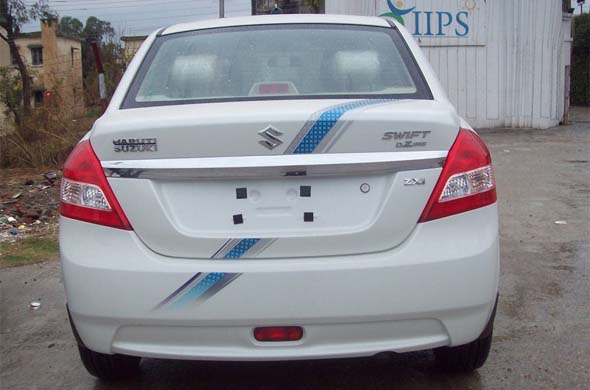 new maruti suzuki dzire compact sedan rear photo