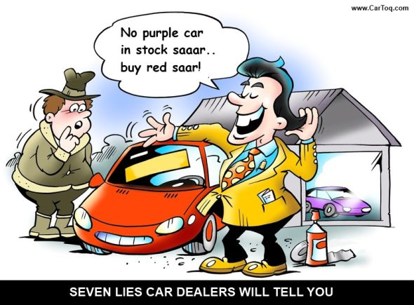 car dealers and lies