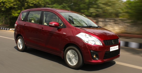 ertiga action shot