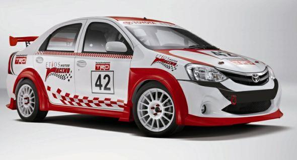 toyota etios racing car photo