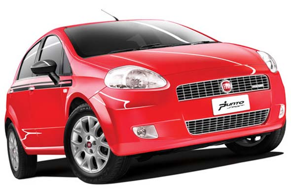 fiat punto sports red photo