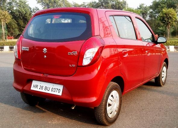 new maruti alto 800 rear photo