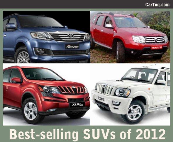 best selling SUVs 2012