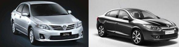 cheapest premium diesel sedans fluence and corolla