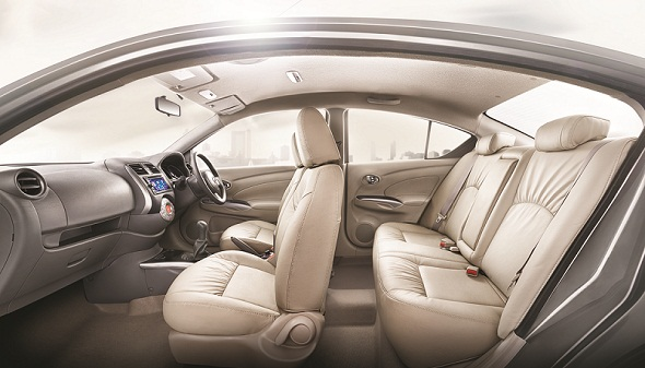 Nissan-sunny-beige-interiors-photo