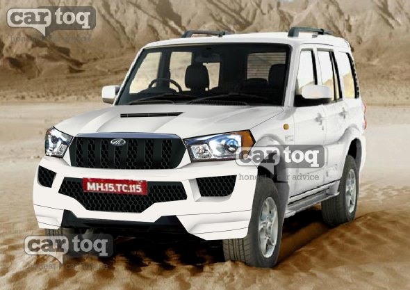 Mahindra Scorpio Facelift SUV Render
