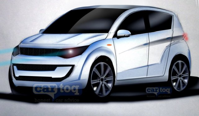 Mahindra S101 Compact SUV in CarToq's speculative render pic