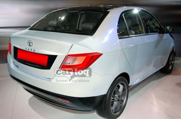 Tata Falcon 5 Compact Sedan Rear Pic