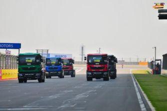 Tata T1 Prima Truck Race in progress