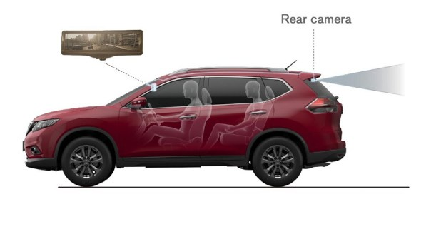Nissan Digital Rear View Camera Illustration Picture