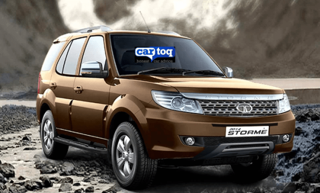 CarToq's speculative render of the front end of the Tata Safari Storme SUV Facelift