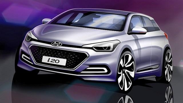 2015 Hyundai i20 Elite Official Sketch Pic