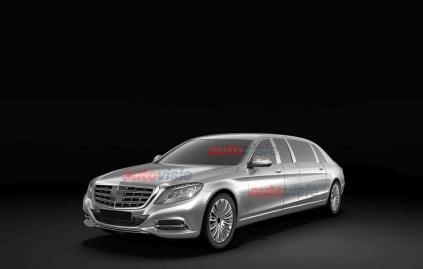 2015 Mercedes Benz S-Class Pullman Limousine Patent Sketch 1