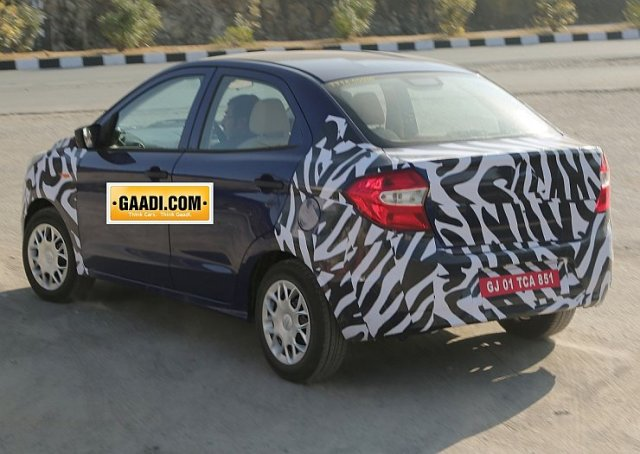 2015 Ford Figo Compact Sedan Spyshot Rear