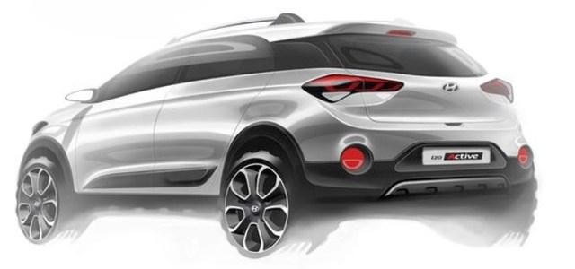 2015 Hyundai i20 Active Sketch Rear