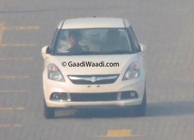 Maruti Suzuki Dzire Facelift Spyshot Front