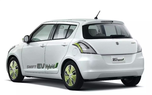 Maruti Suzuki Swift Range Extender Hybrid Rear Three Quarters