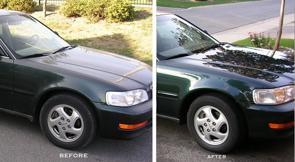 Before and after used car
