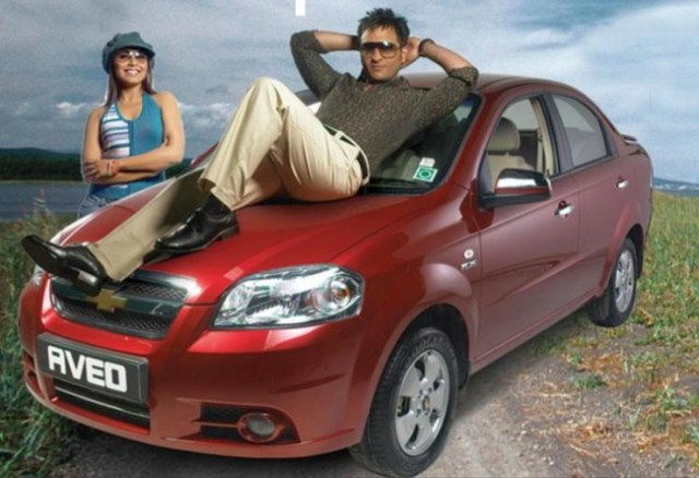 Chevrolet Aveo with Saif Ali Khan and Rani Mukherjee
