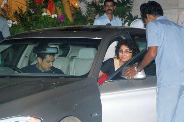 Aamir Khan and Kiran Rao in the BMW 5-Series