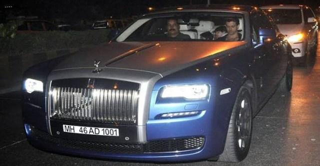 Hrithik Roshan in the Rolls Royce Ghost Series II