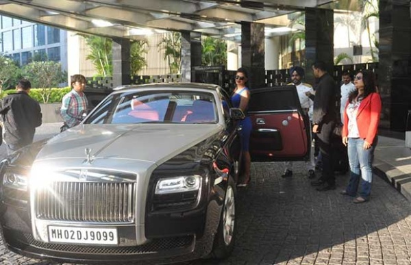 Priyanka Chopra with her Rolls Royce Ghost