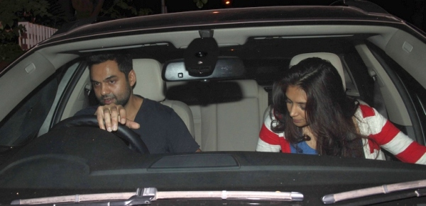 Abhay Deol with his BMW X6
