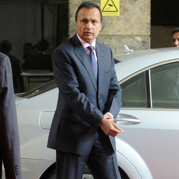Anil Ambani and Tina Ambani with his W221 Mercedes Benz S-Class