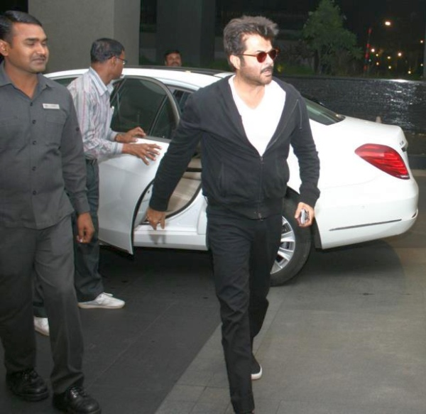Anil Kapoor with his W222 Mercedes Benz S-Class Luxury Saloon