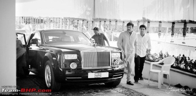 Chiranjeevi with his Rolls Royce Phantom