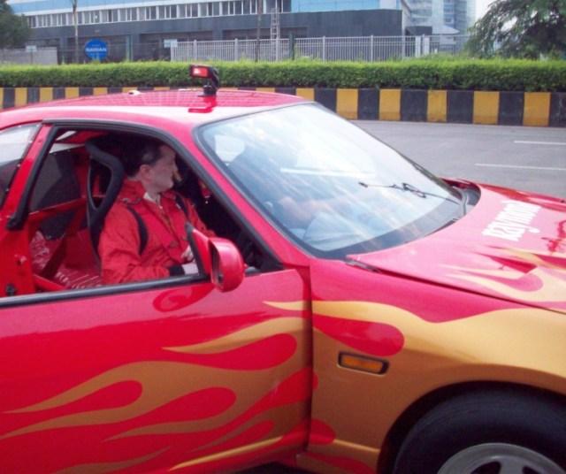 Gautam Singhania in his Nissan Skyline GT-R