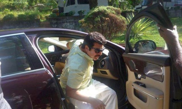 Mammootty in his Jaguar XJ