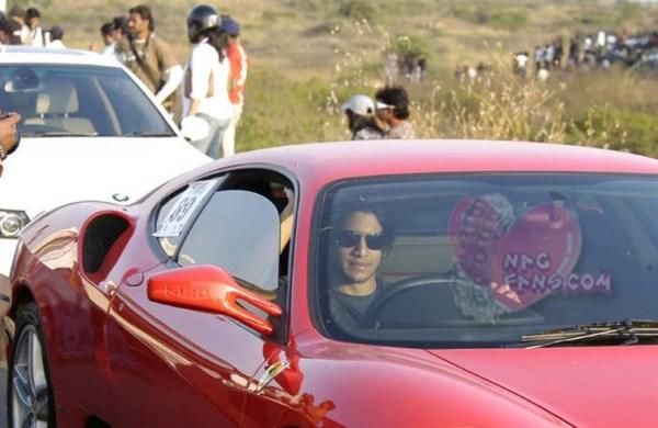 Naga Chaitanya in his Ferrari F430