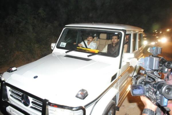 Pawan Kalyan driving a Mercedes Benz G63 AMG
