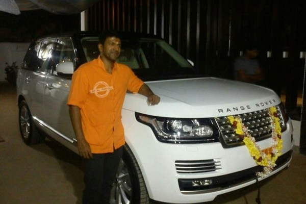 Puneet Rajkumar with his Range Rover Vogue
