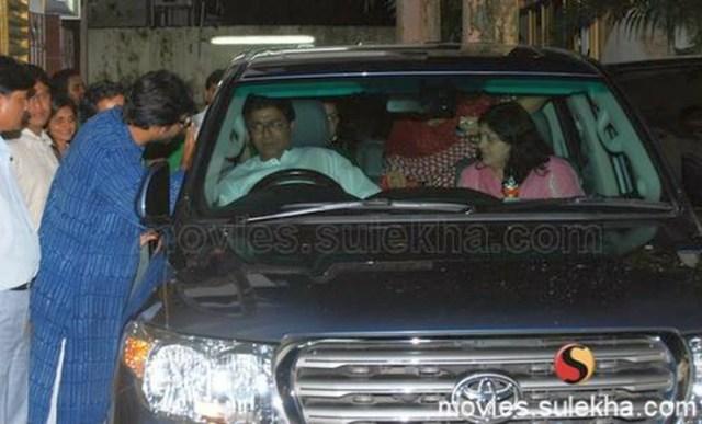 Raj Thackeray in his Toyota Land Cruiser
