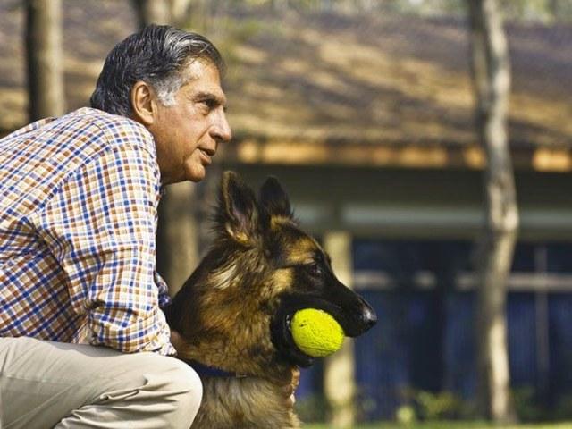 Ratan Tata with his Dog