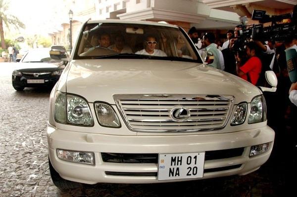 Salman Khan in his Lexus LX470