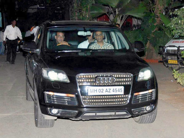 Sanjay Dutt with his Audi Q7