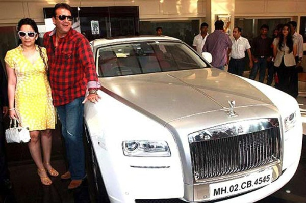 Sanjay Dutt with his Rolls Royce Ghost