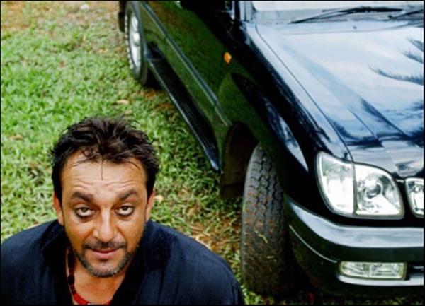 Sanjay Dutt with his Toyota Land Cruiser