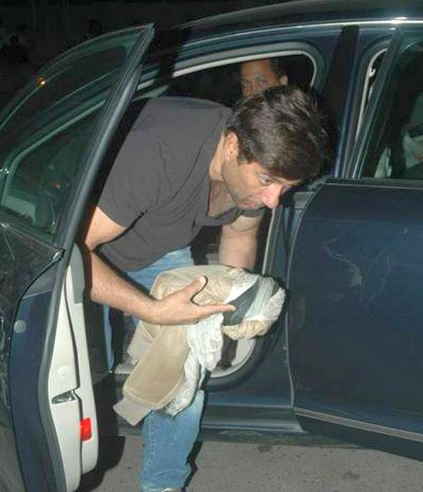 Sunny Deol with his Audi A8