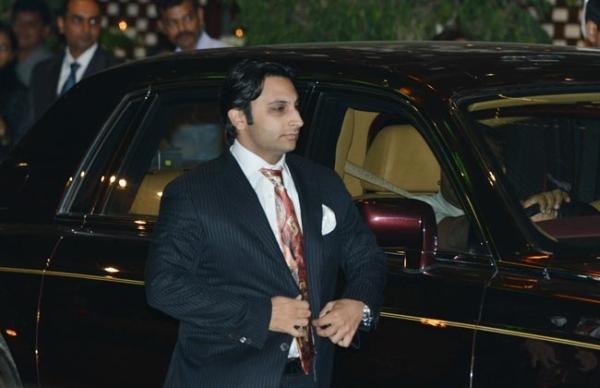 Adar Poonawalla with the Rolls Royce Phantom