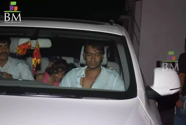 Ajay Devgan in his Audi Q7