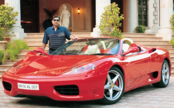 Cyrus Poonawalla with his Ferrari F430