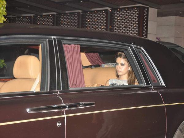 Natasha Poonawalla in the Rolls Royce Phantom