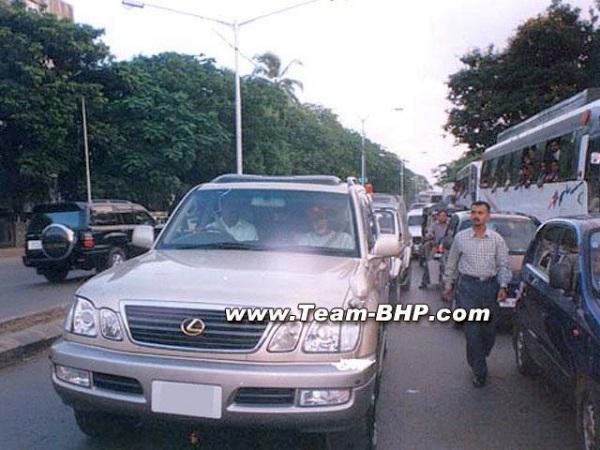 Amitabh Bachchan in his Lexus LX470