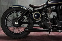 Bull city Customs' Royal Enfield Electra based Cruiser Custom 4