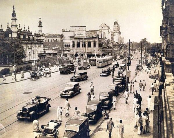 Calcutta's Chowringhee Road 1940